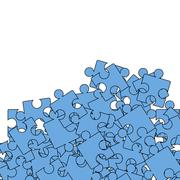 Set of Blue Pazzle. Jigsaw Pattern Stock Illustration