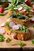 Bruschetta appetizer Stock Photos