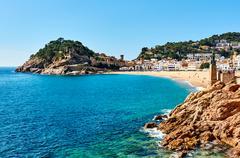 Waterside view of a Vila Vella, Tossa del Mar. Spain Kuvituskuvat