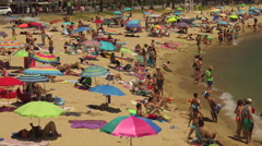 Beach at the small village Sant Antoni de Calonge (Costa Brava) Stock Footage