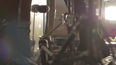 Drum Double Bass Pedal in Slow Motion - stock footage