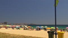 Beach at the small village Sant Antoni de Calonge (Costa Brava) Stock Footage