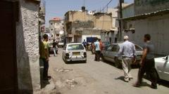 Palestinian Refugee Camp Amari Street . Stock Footage