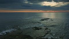 Seascape wt dawn - stock footage