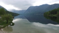 Lake Bohini in Slovenia, National park Triglav Stock Footage