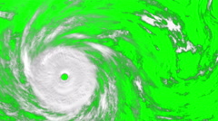 Large Hurricane on the green screen, CG animation Stock Footage