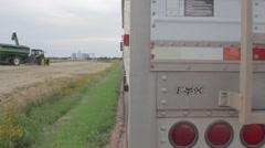 John Deere Grain Cart - Wheat Harvest Stock Footage