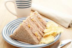 Tuna sandwich Stock Photos