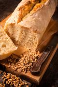 Serbian bread - stock photo