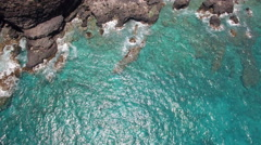 Makapuu Lookout Surf and Cliffs from Drone Stock Footage