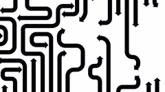 Maze of black arrows on white background, seamless loop, CG animation Stock Footage