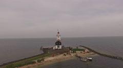Lighthouse in Marken, Holland. Stock Footage