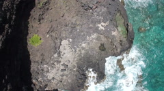 Makapuu Lookout Hawaii Surf and Cliffs from Drone Stock Footage