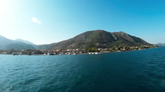 Ship ride Lefkada Stock Footage