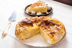 Serbian cheese pie - stock photo
