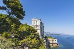 Building of Oceanographic Museum in Monaco - stock photo