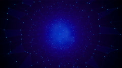 Dark Blue Particle Sphere Looping Background Stock Footage