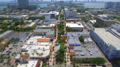 Aerial: Modern Lincoln Road 2016 Stock Footage