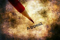 Pencil on appeal text Stock Illustration