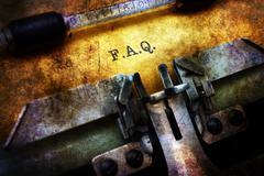 F.A.Q. on typewriter grunge concept Stock Illustration