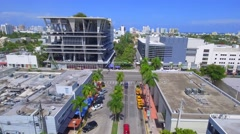 Aerial video Lincoln road Miami Beach Stock Footage