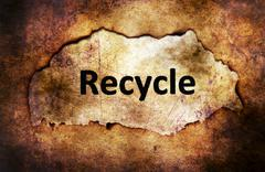 Recycle text on paper hole grunge concept Stock Illustration