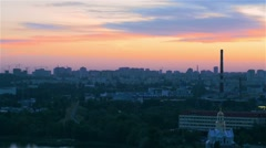 Aerial view of night cityscape in Kyiv (Kiev) Stock Footage