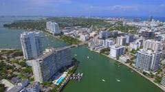 Aerial Venetian Boulevard to Dade Boulevard Stock Footage