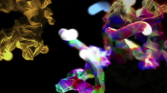 Multiple quick streams of colorful particles, 3D animation, looping Stock Footage