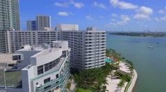 Bayfront buildings Miami Beach Stock Footage