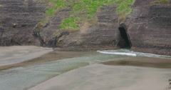 Piha beach ocean , auckland, New Zealand Stock Footage