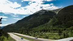 Colorado Mountain Highway Time Lapse Stock Footage