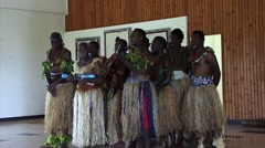 Fijian Dancers Stock Footage