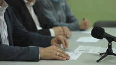 Political party, Political promotion program press conference  Stock Footage