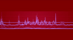 4k stock market trend analysis statistics data,heartbeat pulse ECG grid lines. Stock Footage