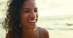 Portrait of Ethnic Woman Laughing Stock Footage