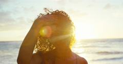 Portrait of African American Woman Stock Footage
