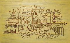 Study business science - stock illustration