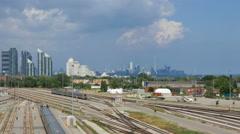 Toronto Downtown From Islington Street Bridge Stock Footage
