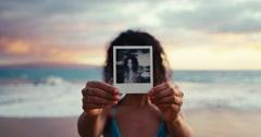 Polaroid Portrait Stock Footage