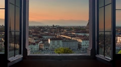 Turin cityscape timelapse from day to night Stock Footage