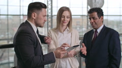 Business people Using Modern Gadget Stock Footage