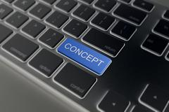 Keyboard with concept button. Computer   blog Stock Illustration