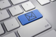 E-mail envelope in a computer key Stock Illustration