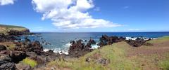 Panorama Landscape from the Easter Island Stock Photos
