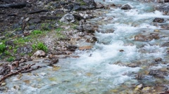 Waterfall in Caucasus mountain Stock Footage