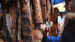 Ham market  Stock Footage