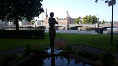 Woman statue fountain in Stockholm Sweden Stock Photos