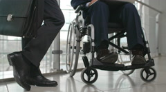 Working with Disabled Person Stock Footage