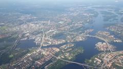Flying over Sweden Stock Photos